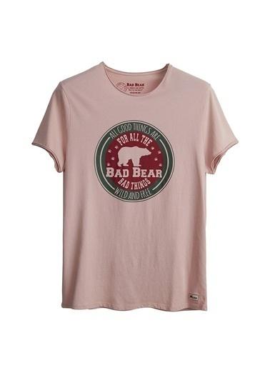 Bad Bear Bad Bear Erkek Pudra Bisiklet Yaka T-Shirt Pudra